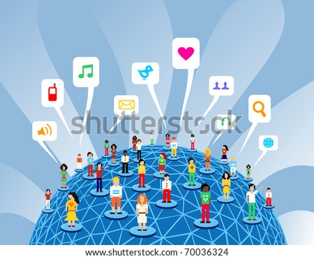 Social media network connection concept