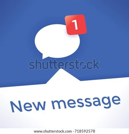 Social media network (Facebook, Twitter, Vkontakte) chat icon new message symbol. Concepts Online messaging services, Internet relationships, friendship, business communication, blogging, virtual life