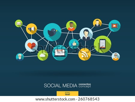 social media network. growth...