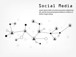 Social Media Network Illustration, Vector