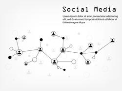 Social Media Network Illustration, Vector