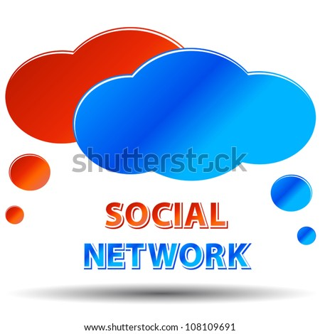 Social media network logos connection concept on a white background