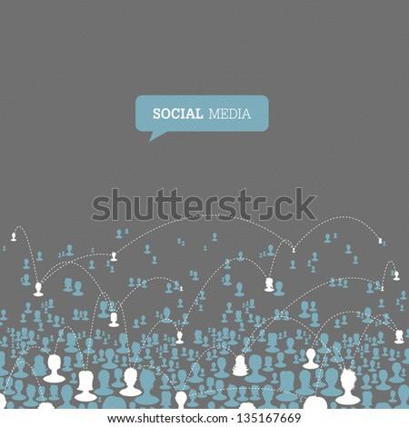 Social Media Network. Vector, EPS10