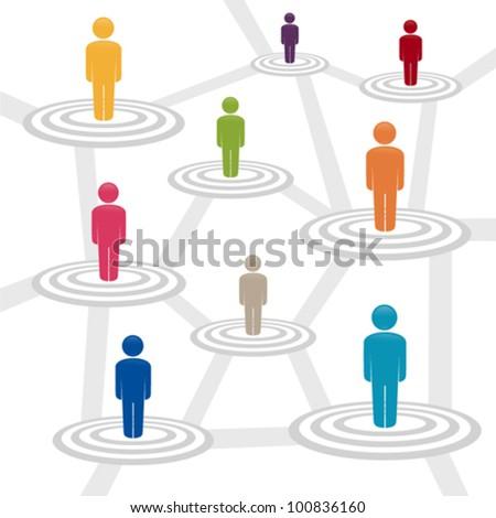 Social media network, vector illustration