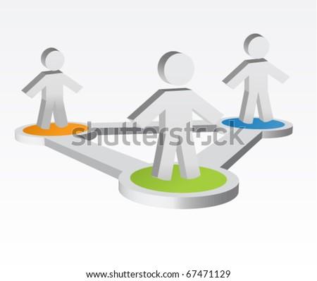 Social Media or Network Illustration