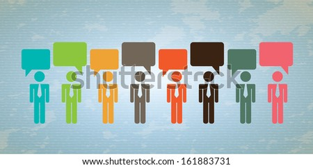 social  media over blue background vector illustration