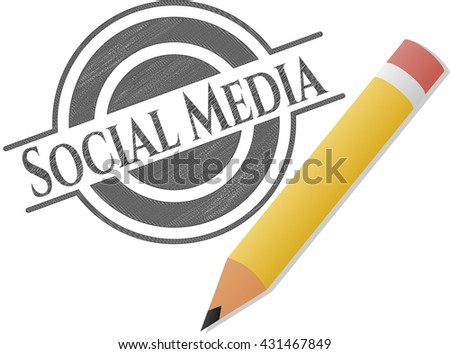 Social Media pencil effect