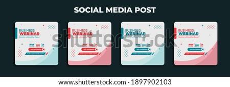 Social Media Post design. Set design of social media advertisement with white background. Good template for advertising on social media