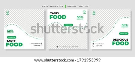 Social Media Post for Food Promotion offer poster, Healthy Food Social Media Banner & Post. Food social media web banner design template, Food Social media, and web square banner design template.
