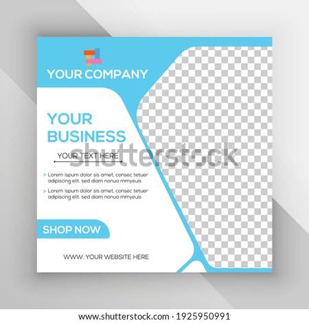 social media post vector template design.