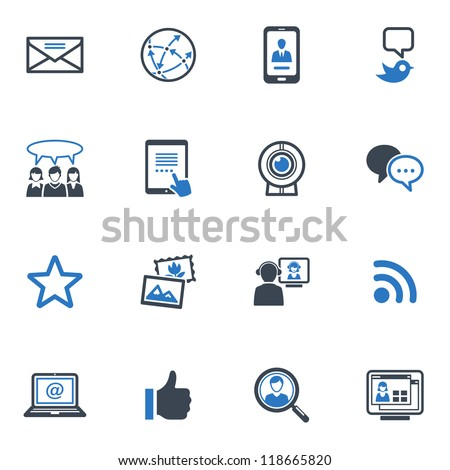 Social Media Set 1 - Blue Series