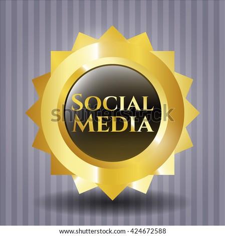 Social Media shiny emblem
