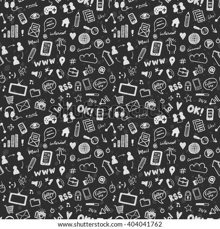 social media sketch vector