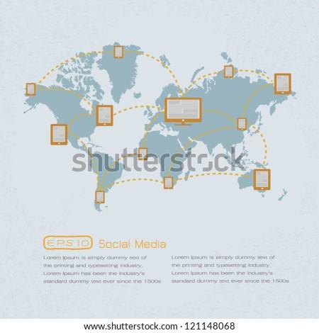 Social Media , Social  Network. eps 10 vector format