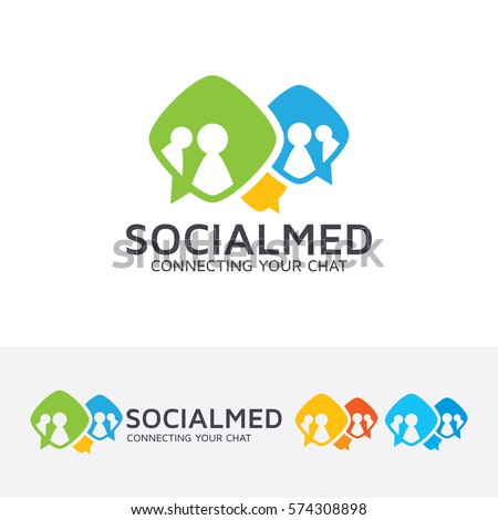 Social Media, social, people, forum, chat, consulting, community.Vector logo template