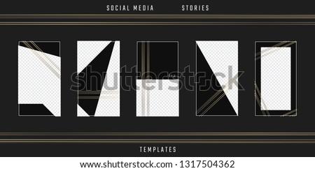 Social media stories template. Editable phone frames. Vector cards. Suitable for sale mockup, fashion blogger, designer, photographer, invitation, flyer. Story pack.