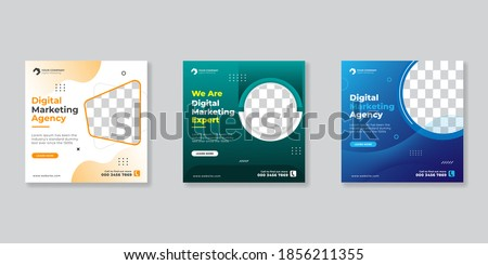 Social media template business agency for digital marketing and business sale promo. furniture or fashion advertising. banner offer. promotional mockup photo vector frame