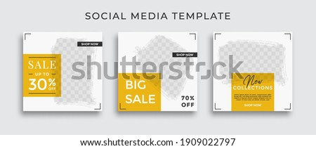 Social media template for promotion. Web banner square for ad.