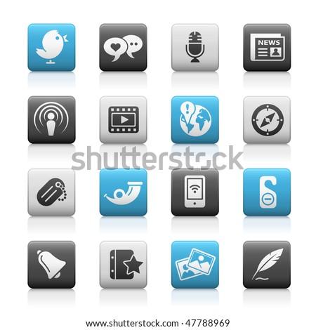 social media web icons    matte