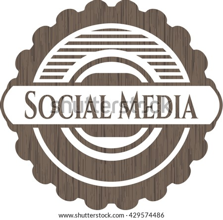 Social Media wood signboards