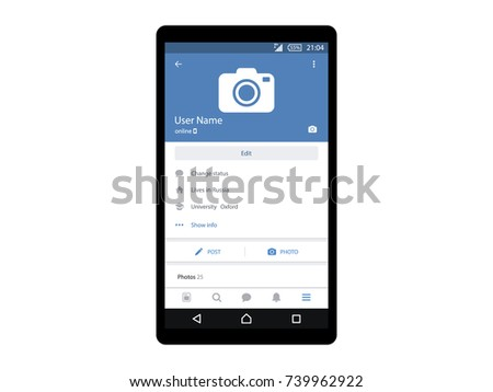Social mobile interface page app concept vector
