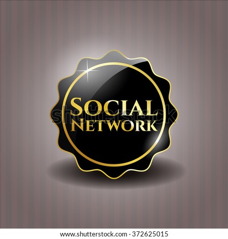 Social Network black emblem or badge, modern style