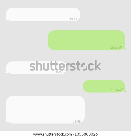 Social network chatting window. Blank template. Messenger window. Chating and messaging concept.Vector illustration Message.
