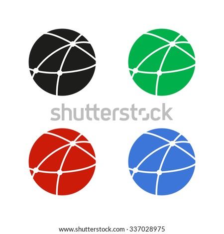 Social network - color vector icon