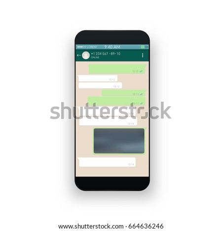 Shutterstock Social network concept. Blank template. Messenger window. Chating and messaging concept. Vector.