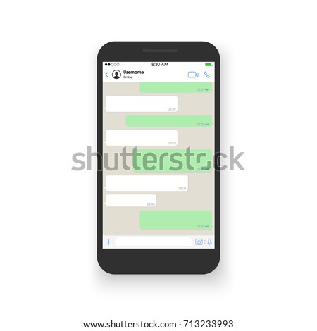 Social network concept. Blank template. Messenger window. Chating and messaging concept. Vector