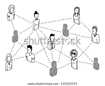 Social network connecting / People relations