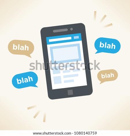 social network conversation on