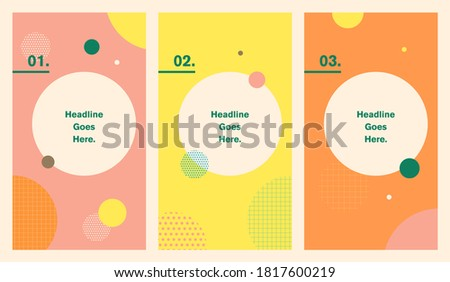Social network editable story background for promotion, sale, post layout, backdrop, advertisement, announcement, summer vibe, fashionable, trendy, stylish, simplistic, vibrant, content creation Photo stock ©