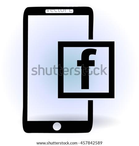 social network facebook vector
