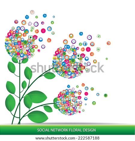 Social network floral design