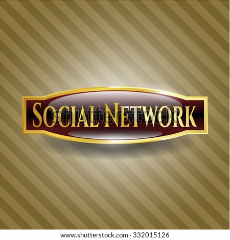 Social Network gold shiny badge