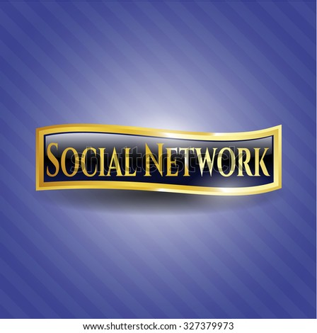 Social Network golden badge