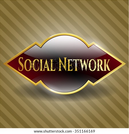 Social Network golden emblem