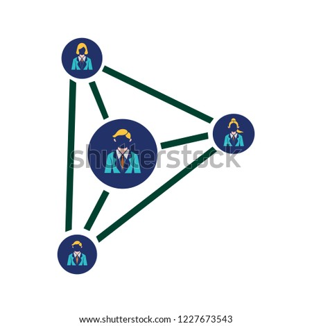social network icon, people network illustration. vector, eps 10