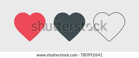 Social network inspired heart. Heart shape vector icon eps 10. Valentine symbol.