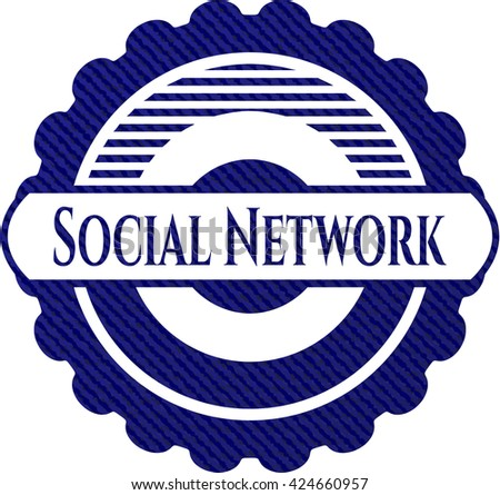 Social Network jean or denim emblem or badge background
