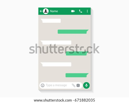 Shutterstock Social network Messenger concept frame WhatsApp, Vector illustration
