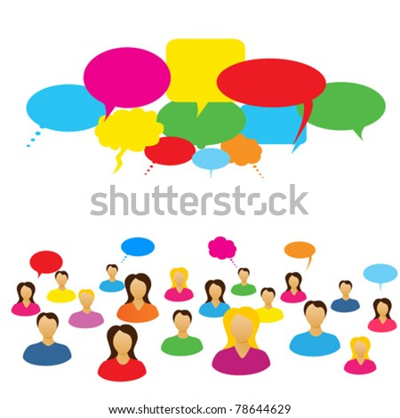 Social network of people chatting