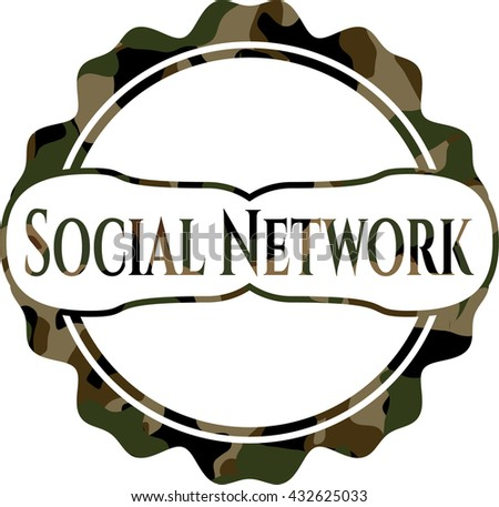 Social Network on camo pattern
