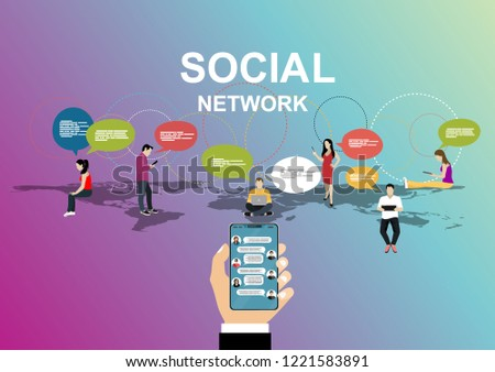 Social network, people connecting all over the world. #1221583891