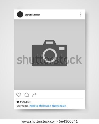 Social network photo frame. Instagram. Vector illustration