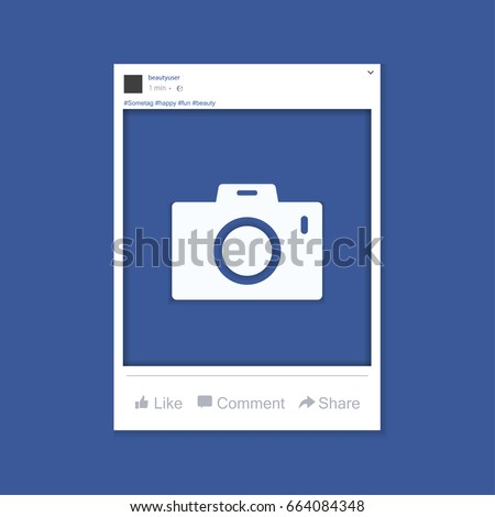 Social network photo frame vector illustration. Facebook. Vector illustration