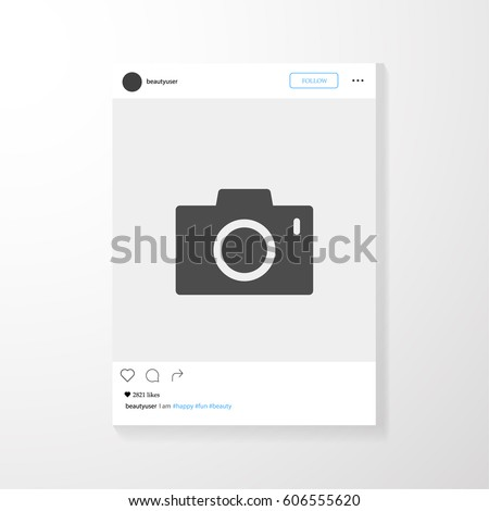 Social network photo frame vector illustration. Instagram. Mock up Vector illustration