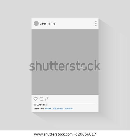 Social network photo frame vector illustration. Vector.