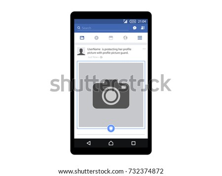 Social network photo frame vector illustration. Vector